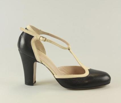 Amalia ivory&black